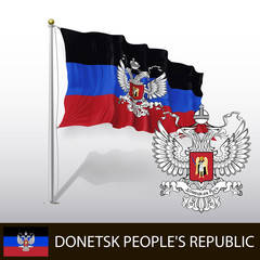 Flag of Donetsk People's Republic - Donetsky Russia - Vector