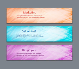 Website header or banner set with beautiful design