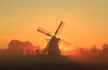 Orange Windmill