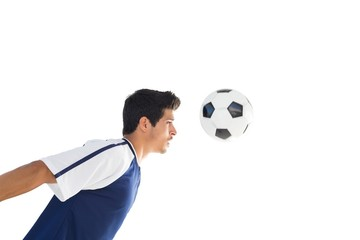 Side view of football player playing
