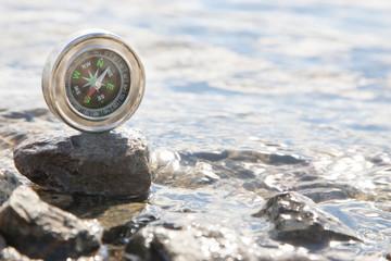 Analogic Compass Abandoned on the stone