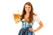junges Mädchen mit einer Maß Bier