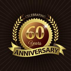 Celebrating 60 Years Anniversary - Laurel Wreath Seal & Ribbon