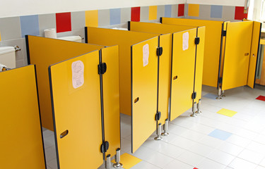 small toilet doors of a nursery