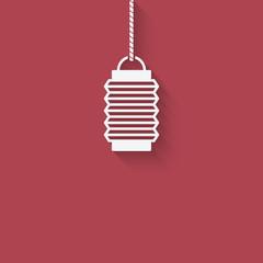 Chinese lantern design element