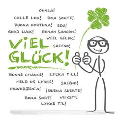 Viel Glück Wortwolke multilingual
