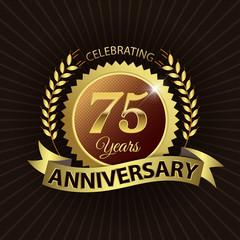 Celebrating 75 Years Anniversary - Laurel Wreath Seal & Ribbon