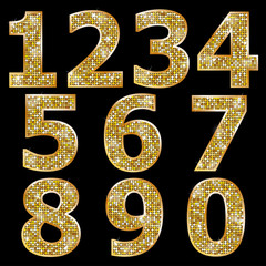 Golden metallic shiny numbers