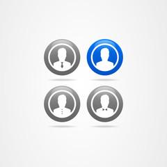 Business icon set vector button company