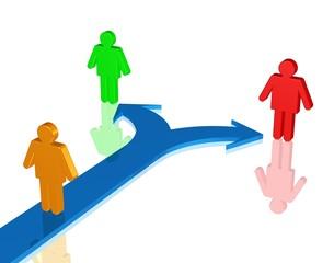 Partnerwahl, sich für einen Freund entscheiden