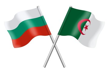 Flags: Bulgaria and Algeria