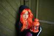 Child with Halloween lantern