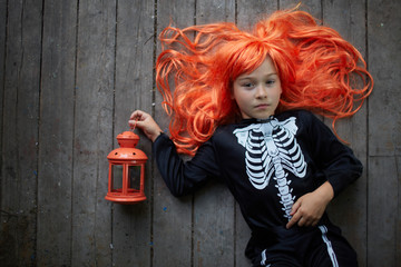 Red-haired Halloween girl