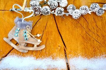 Weihnachtskarte - Schlittschuhe