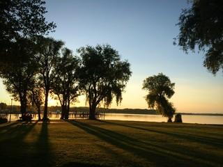 sunset Chiemsee