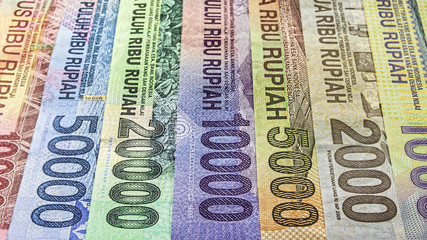 Indonesian rupiah currency in various banknote denomination
