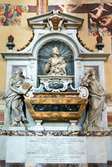 Tomb of Galileo Galilei in the Basilica of Santa Croce