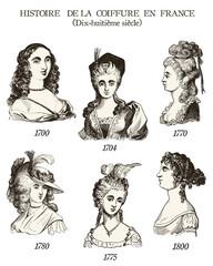 Histoire de la coiffure en France (18ème siècle)