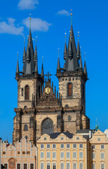 Gothic St. Vitus' Cathedral on Prague Castle