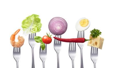 Verschiedene vitaminreiche Lebensmittel