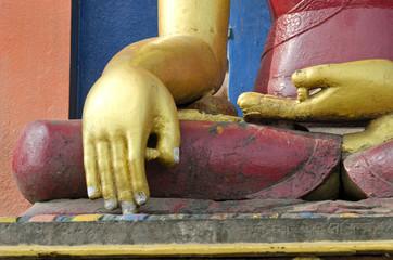 golden hands of Buddha  statue in Kathmandu, Nepal