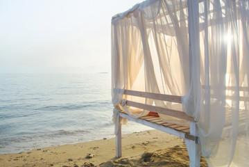 Romantic gazebo on the beach