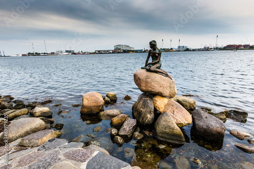 Poster The Little Mermaid is a bronze statue in Copenhagen,Denmark
