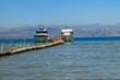 Obrazy na płótnie, fototapety, zdjęcia, fotoobrazy drukowane : Ship in the harbor on the sea in Corfu