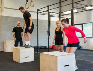 Athletes Box Jumping