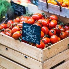 Just harvested tomatoes at local farm market.Copenhagen,Denmark.