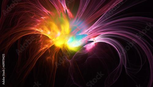Leinwandbild Motiv Volcanic  eruption at night