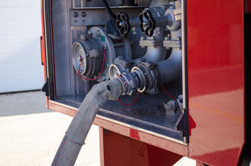 Fire truck hoses