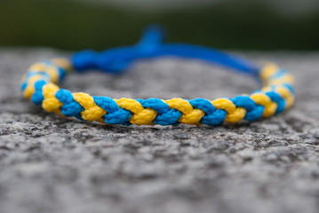 Handmade bracelet with ukrainian national colors