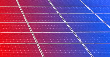Colorful solar panels background