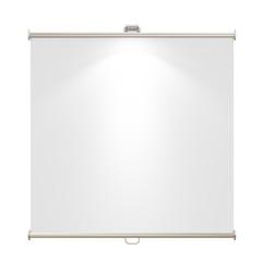 blank presentation banner with spotlight