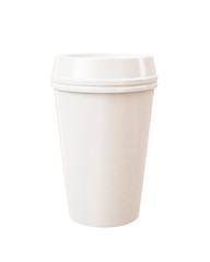 takeaway cup of coffee isolated on white background