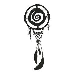 dream carcher black silhouette native american symbol