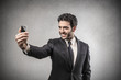 Businessman doing a selfie