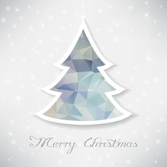 Silver christmas tree with triangle filling