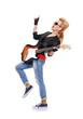 happy rocker girl