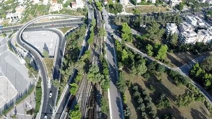 Train Arrival Aerial footage