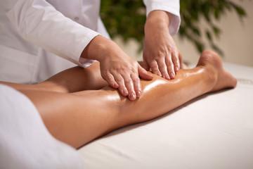 Calf massage in spa