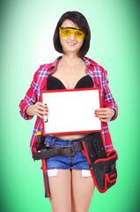 girl holding clipboard