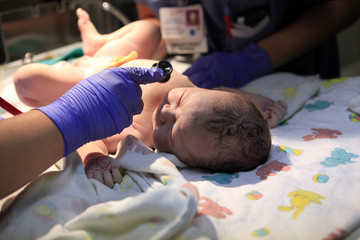 Just born baby girl