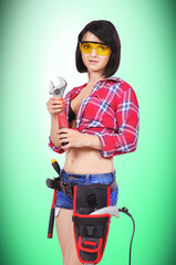 sexy girl with wrench