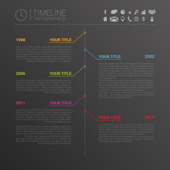 Modern horizontal timeline design template. Vector