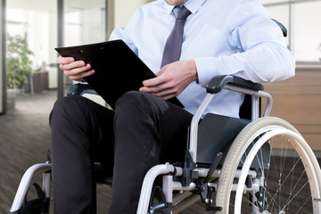 Disabled office worker