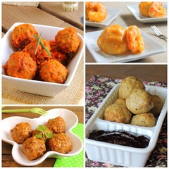 Meatballs recipes collage