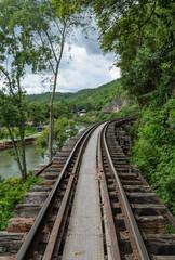 Death railway in Kanchanaburi Thailand - built during World War
