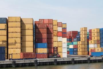 Contenedores del puerto de Rotterdam
